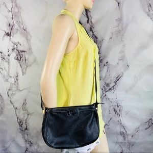 Vintage 1966 Gucci black leather made in Mexico